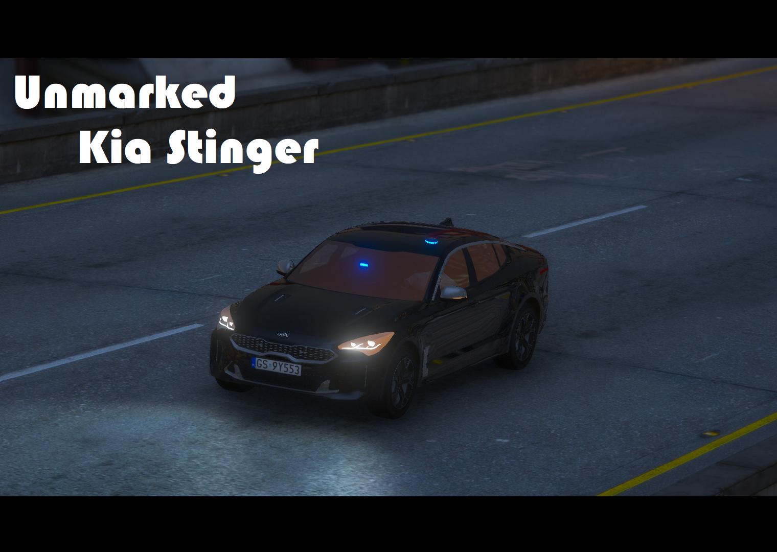 Unmarked Kia Stinger Polskiej Policji [ELS]