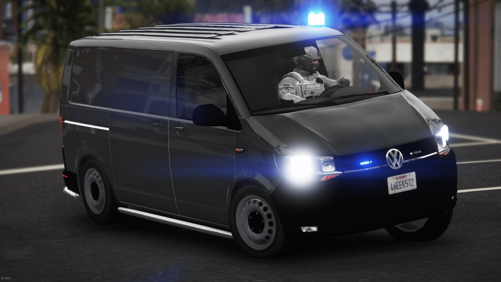 Volkswagen T6 Unmarked Police [ELS / REPLACE] 1.0