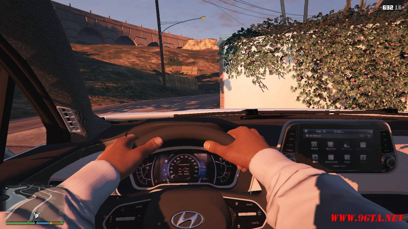 2019 Huyndai Santa Fe GTA5 mods (16)
