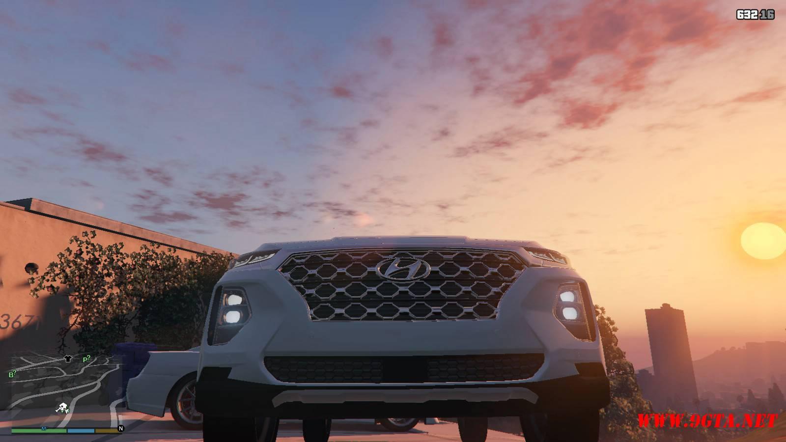 2019 Huyndai Santa Fe GTA5 mods (7)