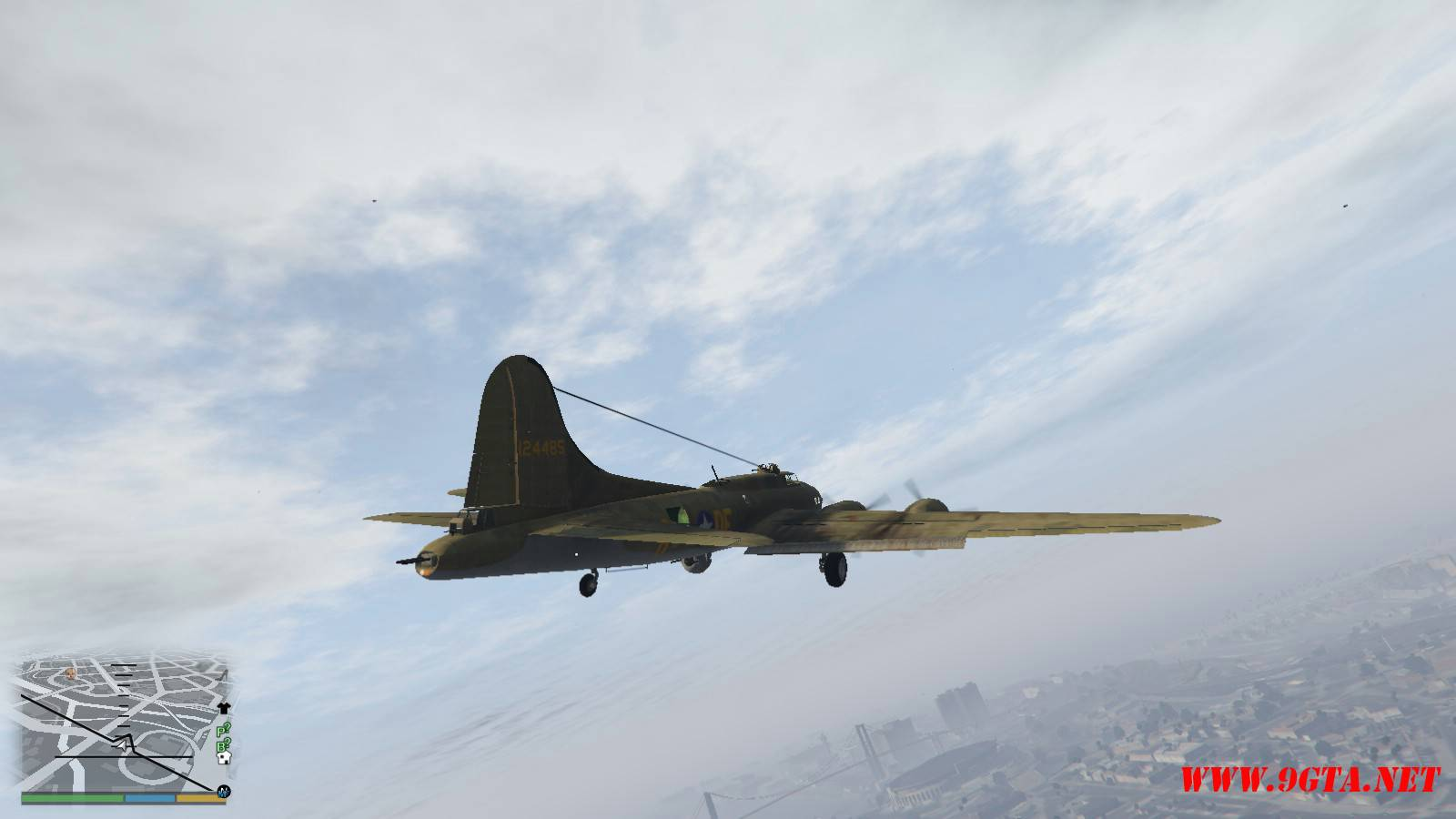 B-17E Flying Fortress Mod For GTA5 (4)