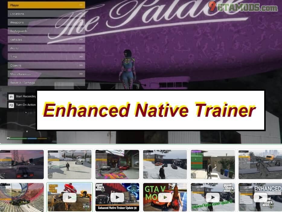 Enhanced Native Trainer Update 41 GTA V - 9GtaMods com
