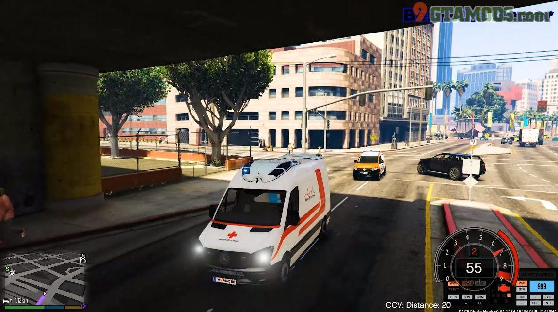 GtaV Paint Job - Mercedes Sprinter Otaris [Vienna Red Cross] V1.0 - 7